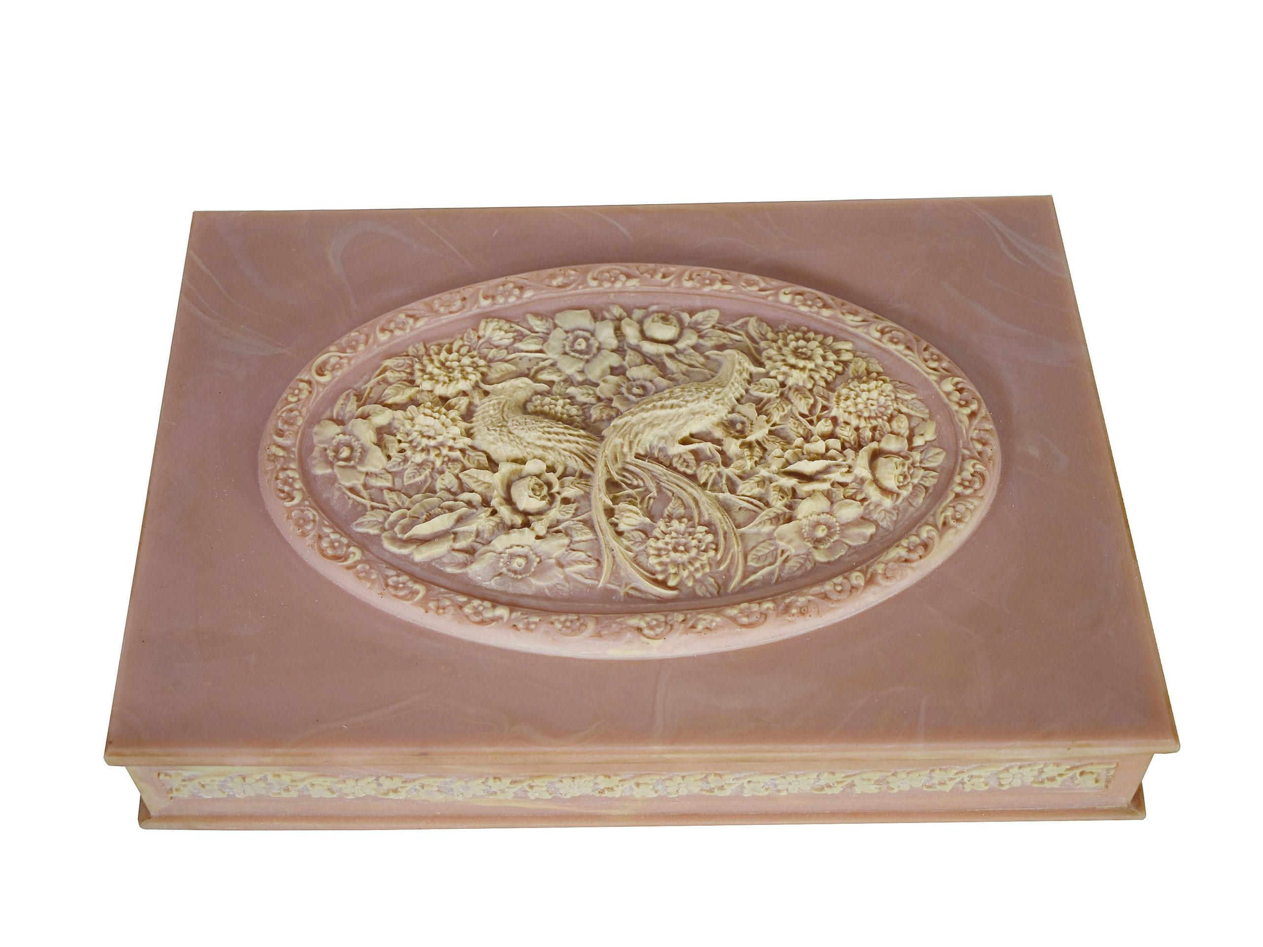 Vintag Pink Incoley Jewelry Box